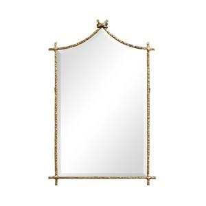 Brass Hammered Wall Mirror   Jonathan Charles