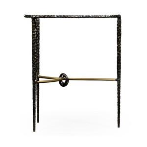 Bronze Hammered Freeform Lamp Table | Jonathan Charles