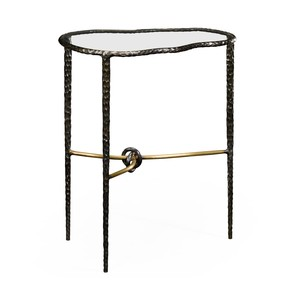 Bronze Hammered Freeform Lamp Table | Jonathan Charles