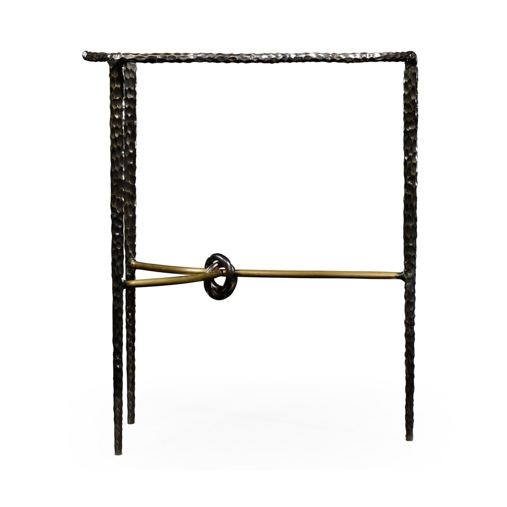 Bronze Hammered Freeform Lamp Table   Jonathan Charles