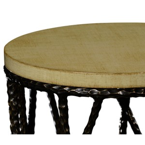 Bronze Hammered Wine Table w/ Celadon Top | Jonathan Charles
