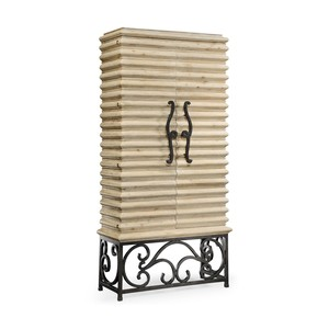 Limed Wood Wine Cabinet | Jonathan Charles