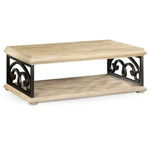 Limed Wood Coffee Table