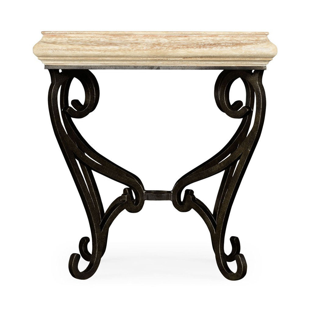 Limed Wood Square Side Table | Jonathan Charles
