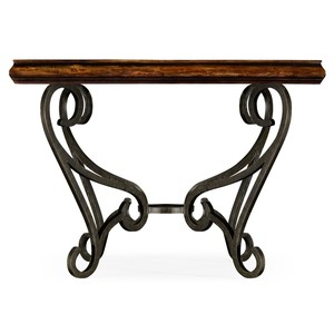 Rustic Walnut and Glass Top Centre Table | Jonathan Charles