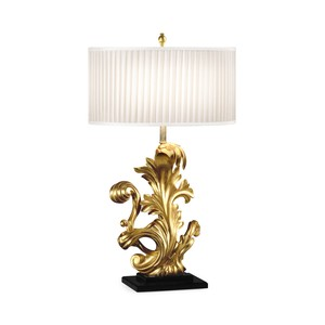 Gold Leaf Gilded Carved Table Lamp | Jonathan Charles