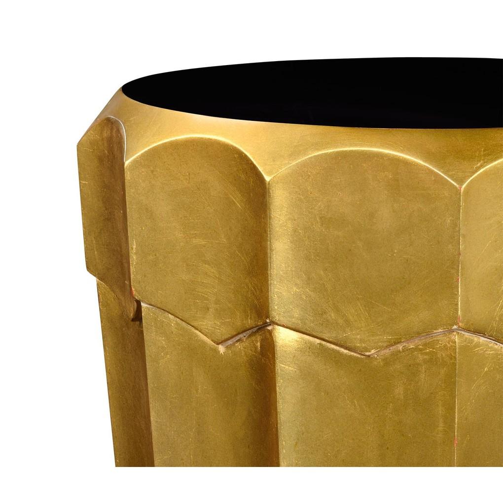 Art Decor Antique Gold Leaf Side Table | Jonathan Charles