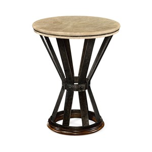 Iron Round Dark Marble Table