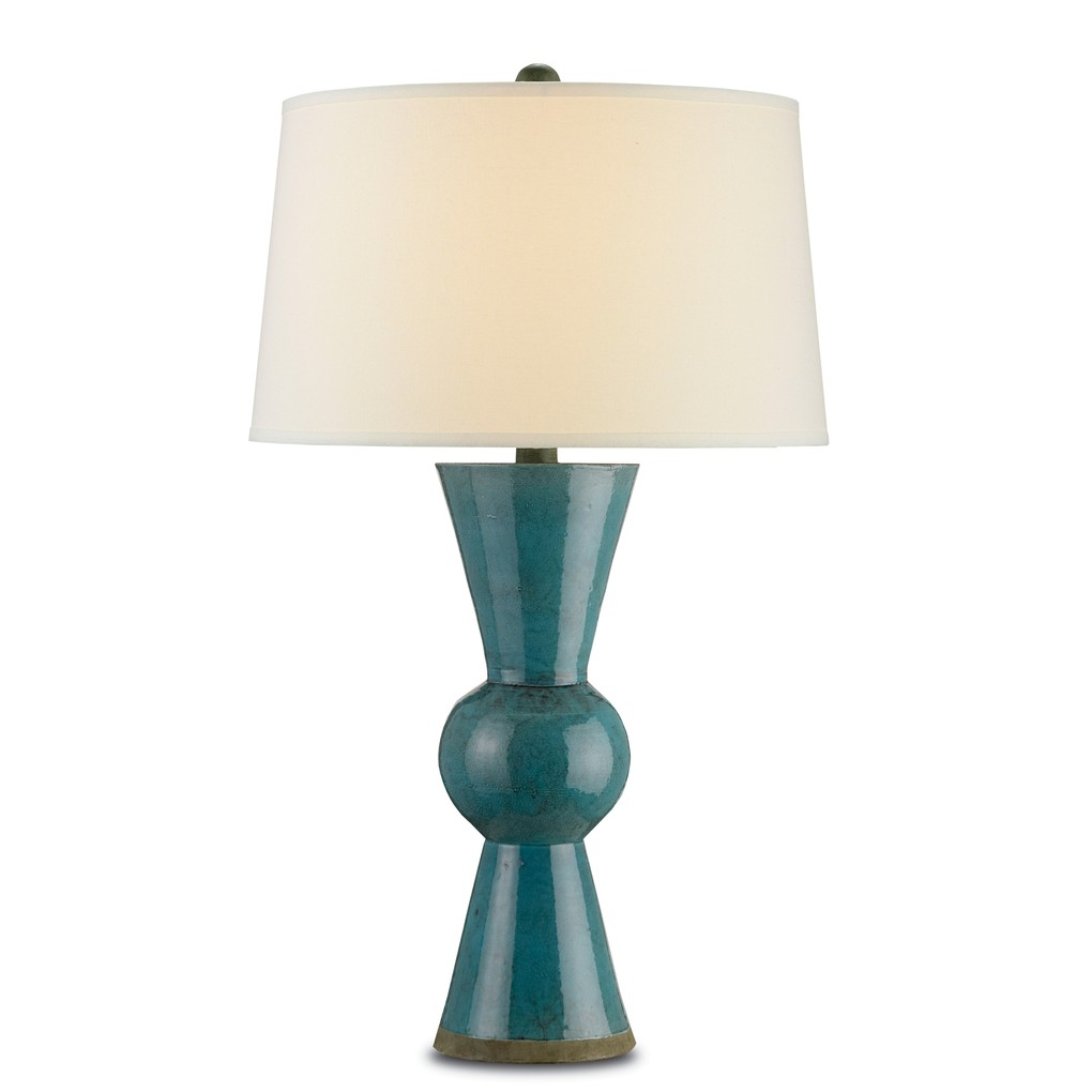 Teal Upbeat Table Lamp | Currey & Company