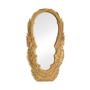 Antique Gold-Leaf Floor Mirror
