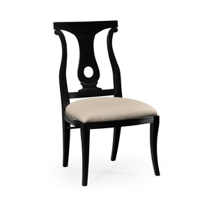 Black Lock Dining Side Chair | Jonathan Charles