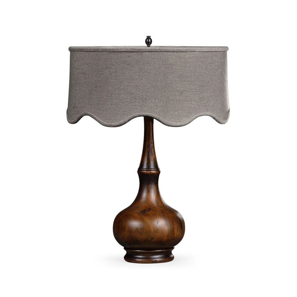 Rustic Walnut Wood Table Lamp | Jonathan Charles