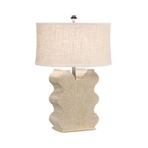 Limed Wood Table Lamp