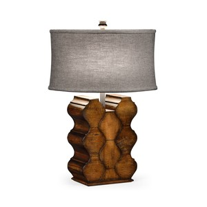 Rustic Walnut Wood Table Lamp