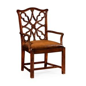 "Mahogany ""Gothic"" Arm Chair"