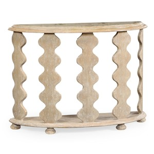 Demilune Console Table in Limed Acacia | Jonathan Charles