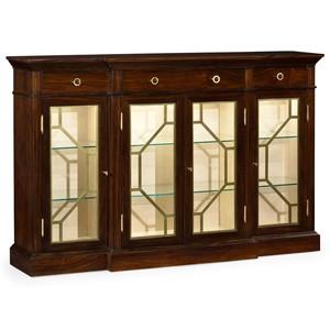 4 Door Breakfront Display Cabinet | Jonathan Charles