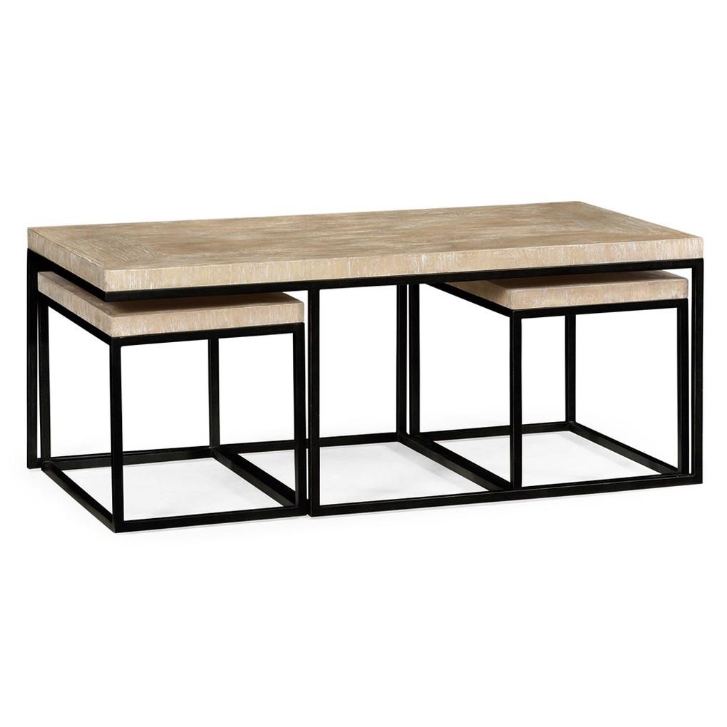 Rectangular Coffee Table in Limed Acacia   Jonathan Charles