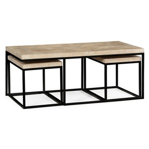 Rectangular Coffee Table in Limed Acacia | Jonathan Charles