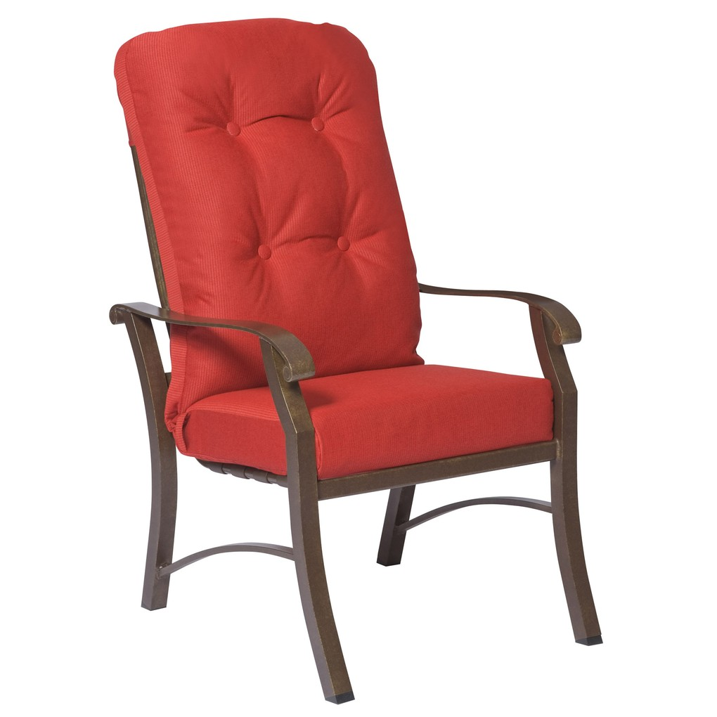 Cortland Cushion High Back Dining Arm Chair | Woodard