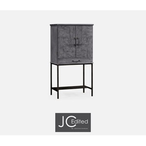 Antique Dark Grey Bar Cabinet | Jonathan Charles