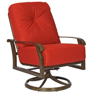 Cortland Cushion Swivel Rocking Lounge Chair | Woodard