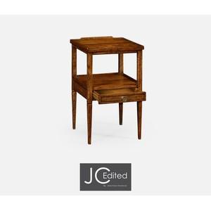 Walnut Square Lamp Table w/ Drawer   Jonathan Charles