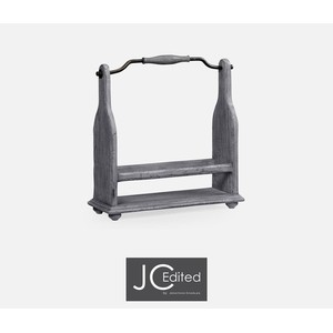 Wine Rack in Antique Dark Grey | Jonathan Charles
