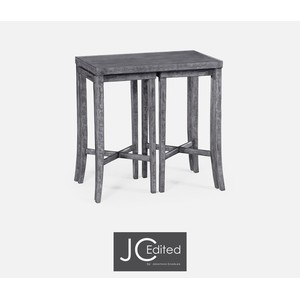 Nesting Cocktail Tables in Antique Dark Grey | Jonathan Charles