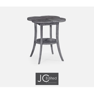 Quatrefoil Lamp Table in Antique Dark Grey | Jonathan Charles