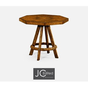 Country Walnut Side Table w/ Octagonal Top | Jonathan Charles