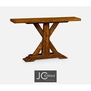 Country Walnut Rectangular Console Table | Jonathan Charles