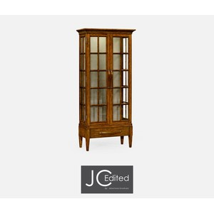 Plank Country Walnut Tall Glazed Bookcase | Jonathan Charles