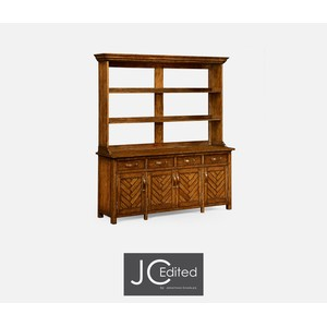 Country Walnut Parquet Welsh Dresser | Jonathan Charles