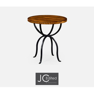 Country Walnut Round Side Table | Jonathan Charles