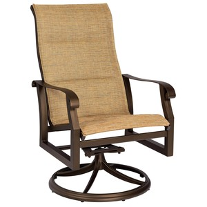 Cortland Padded Sling High Back Swivel Rocker | Woodard