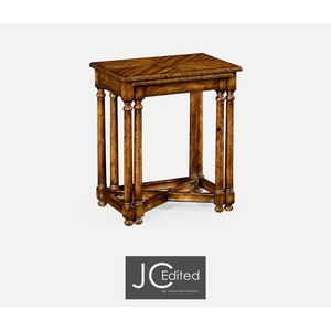 Country Walnut Parquet Nesting Tables