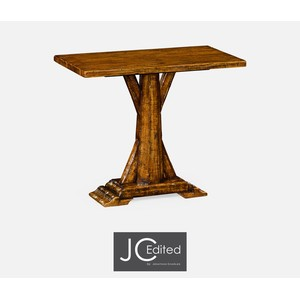 Country Walnut Rectangular Side Table | Jonathan Charles
