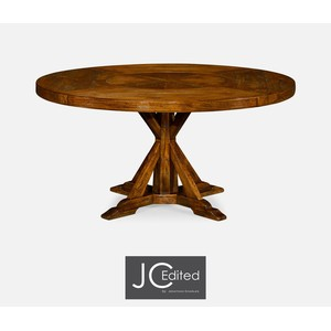 Circular Dining Table in Country Walnut | Jonathan Charles