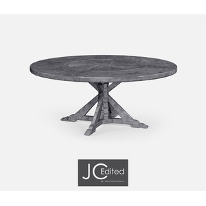 Antique Dark Grey Circular Dining Table | Jonathan Charles