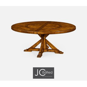Country Walnut Round Dining Table | Jonathan Charles