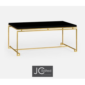 Gilded Iron Rectangular Coffee Table | Jonathan Charles