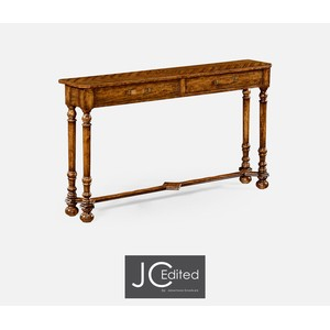 Country Walnut Console Table