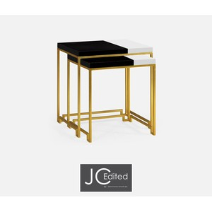 Gilded Iron Nesting Table | Jonathan Charles