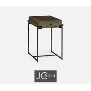 Light Bronze Iron Rectangular End Table | Jonathan Charles