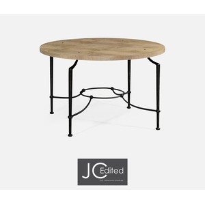 Round Center Table with Iron Base