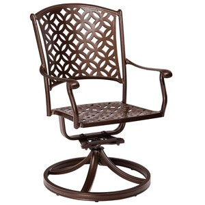 Casa Swivel Rocking Dining Arm Chair | Woodard