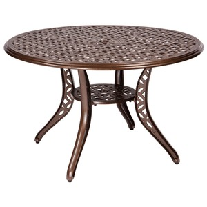Casa Round Umbrella Table | Woodard