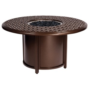 Casa Round Chat Height Fire Table | Woodard