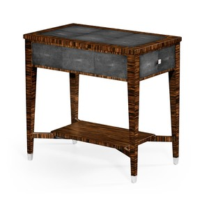 Ebony and Anthracite Shagreen Side Table